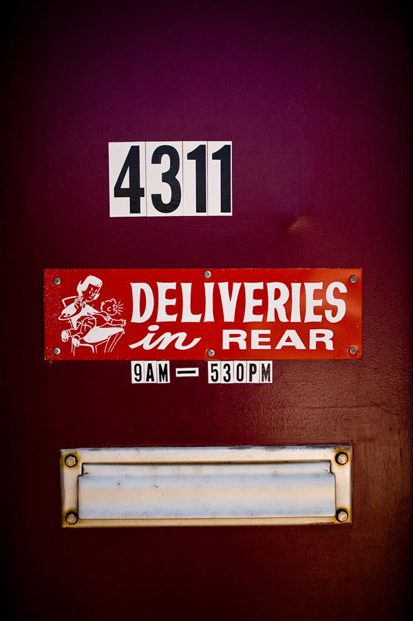 """""""Deliveries in the rear"""""""