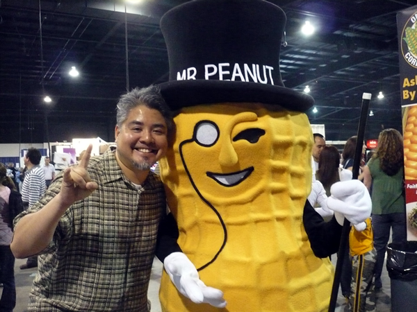Joey deVilla and Mr. Peanut