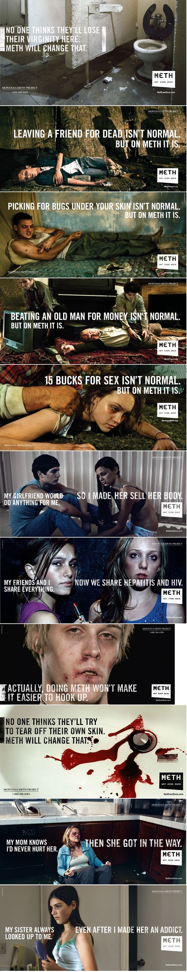 Billboards for the Montana Meth Project