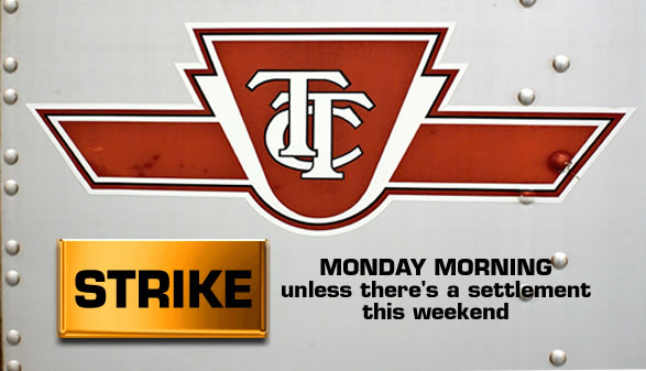 TTC: Strike Monday morning unless there's a settlement