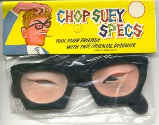 """Chp Suey Specs"" - joke glasses that make your eyes look ""Asian"""