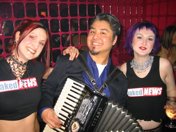 Joey deVilla and the Naked News girls