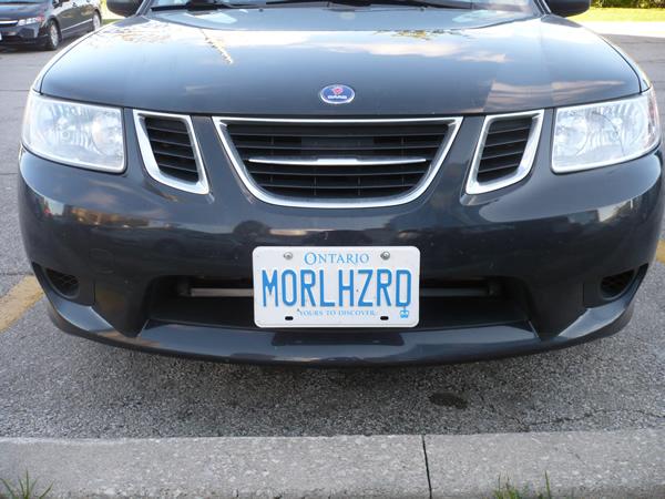 """Licence plate: \""""MORLHZRD\"""""""