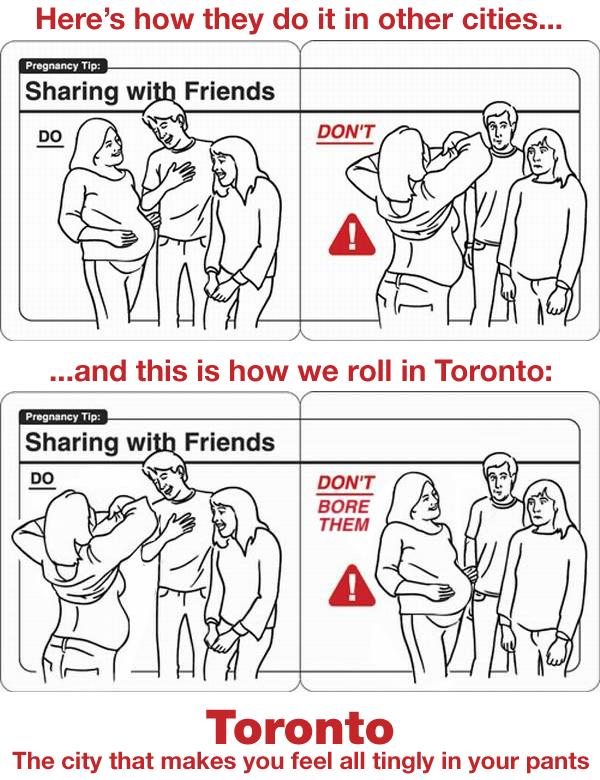 Toronto pregnancy etiquette tips