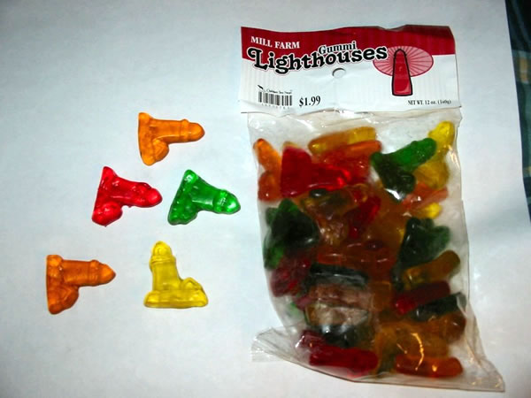 Gummi lighthouses