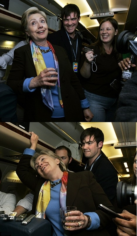 hilary clinton drinking