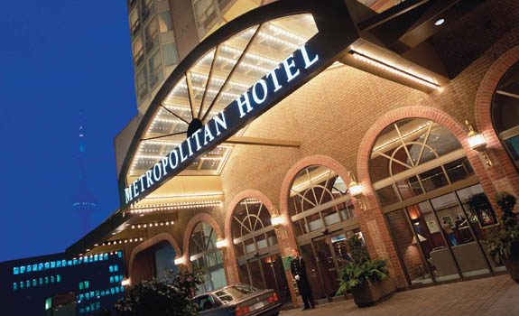 Front entrance of the Metropolitan Hotel Toronto