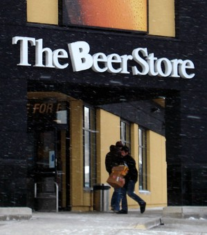 "Storefront for ""The Beer Store\"""