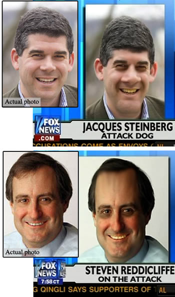 FOX News\' distortions of Jacques Steinberg\'s and Steven Reddicliffe\'s photos