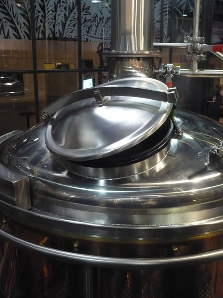 A giant kettle in the Air Canada Centre brewery