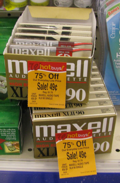 Maxell cassette tapes on sale