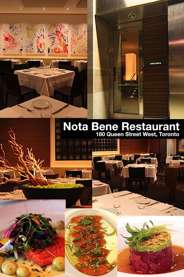 Photocollage of Nota Bene Restaurant