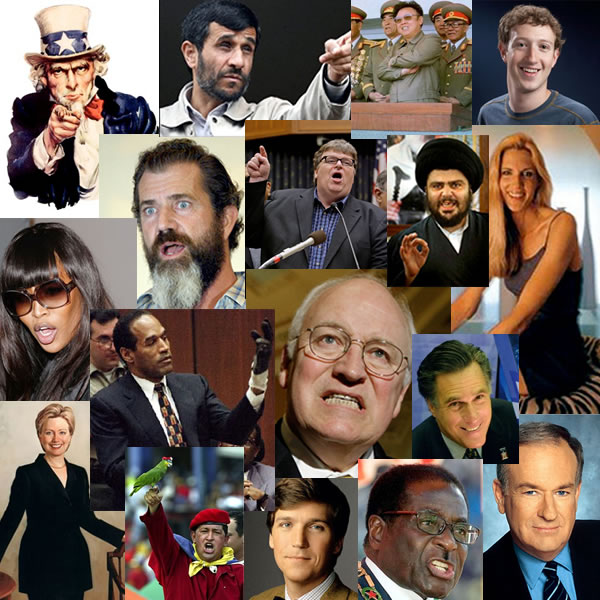 Photocollage of people in Dickipedia