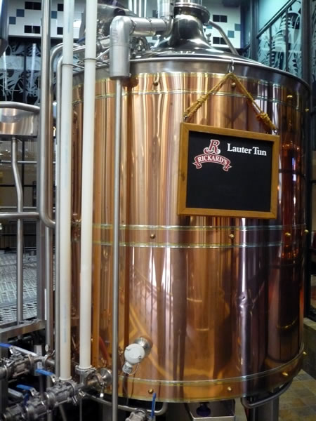 """Copper kettle for \""""Rickards Lauter Tun\"""" at the Air Canada Centre brewery"""