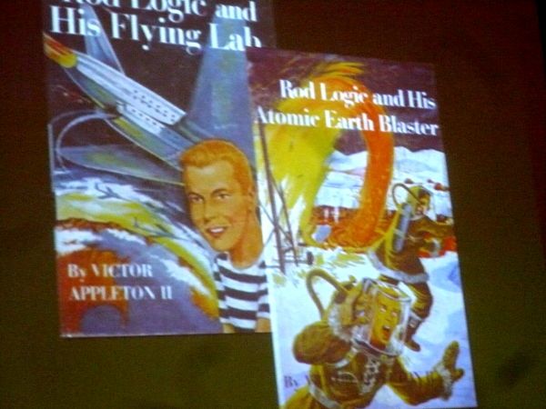 """Book covers for \""""Rod Logic\"""", from Damian Conway\'s presentation"""