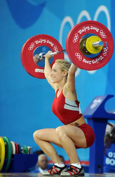 Marilou Dozois-Prevost lifting weights and lookin\' hawt