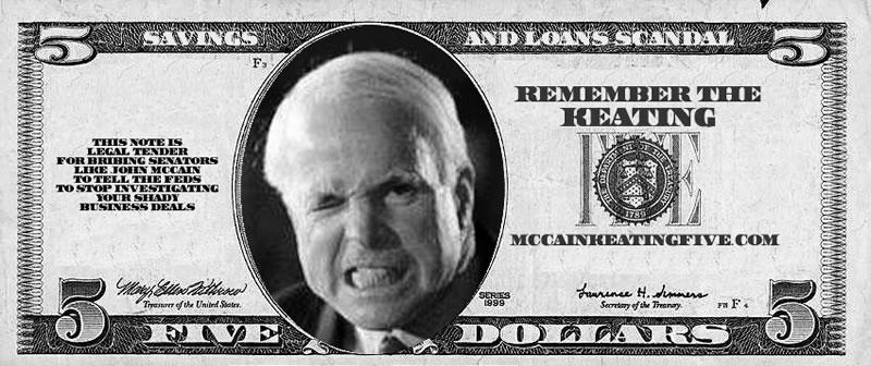 McCain Keating $5 Bill