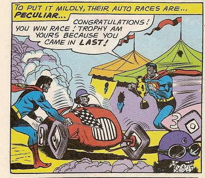 Racing in Bizarro World