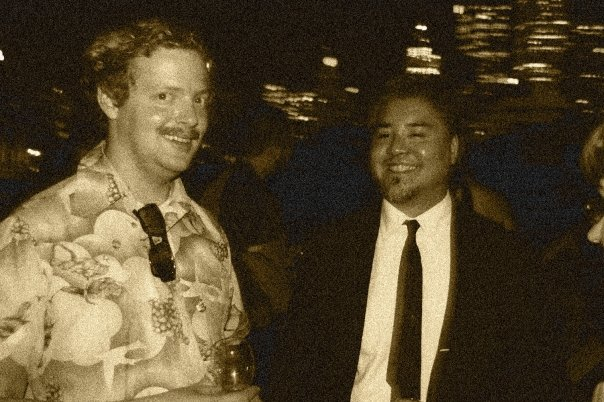 "Hampton Catlin and Joey deVilla at Hampton's ""Mad Men""-themed birthday"