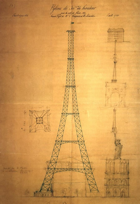 Eiffel Tower plans