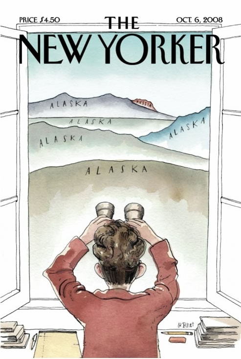 Cover of the October 6, 2008 cover of the New Yorker featuring Sarah Palin
