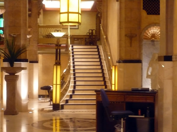 8. Hotel Cecil lobby, as seen from the elevators