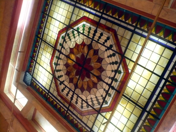 9. Ceiling in Hotel Cecil's lobby