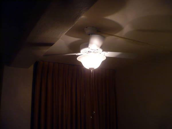 18. Ceiling fan in my room at Hotel Cecil