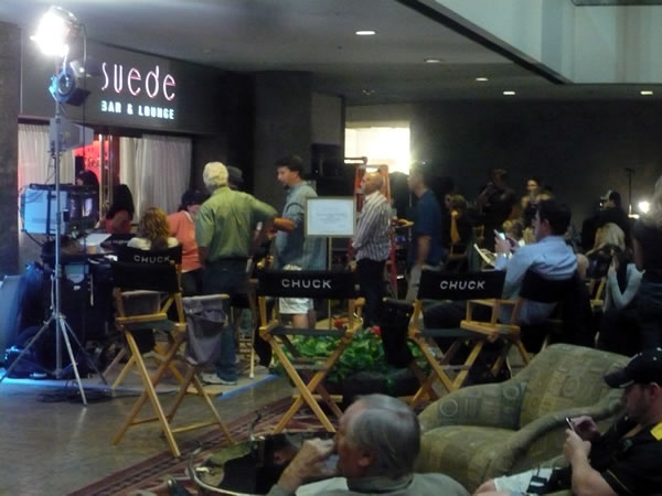 """Chuck"" shoot at the Westin Bonaventure"