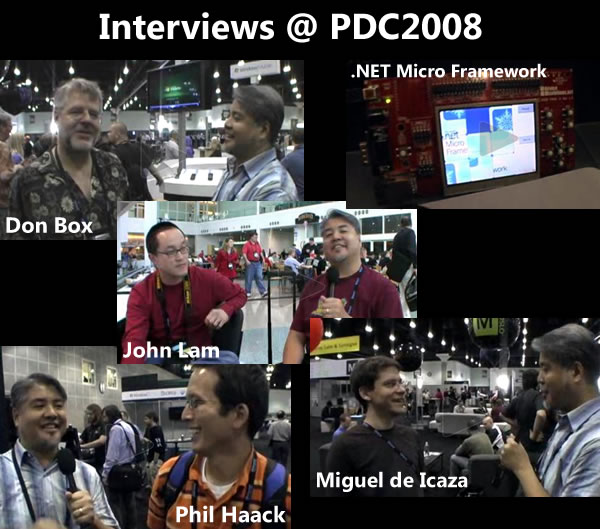 Photos of the people I interviewed at PDC2008