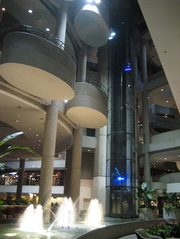 Lobby at the Westin Bonaventure