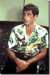 """Al Pacino as """"Tony Montana"""" from """"Scarface"""" in an aloha shirt"""