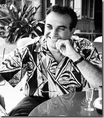 Alfred Shaheen in an aloha shirt