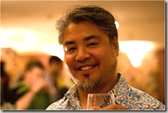 Joey deVilla in an aloha shirt
