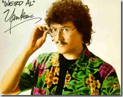 """Weird Al"" Yankovic in an aloha shirt"