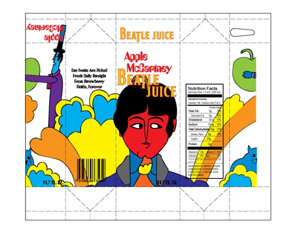 """Apple McCartney"" package in flat form"