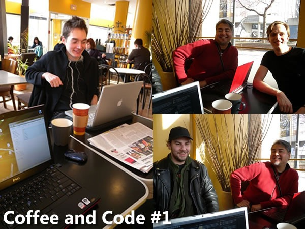 """Montage of photos from """"Coffee and Code"""""""