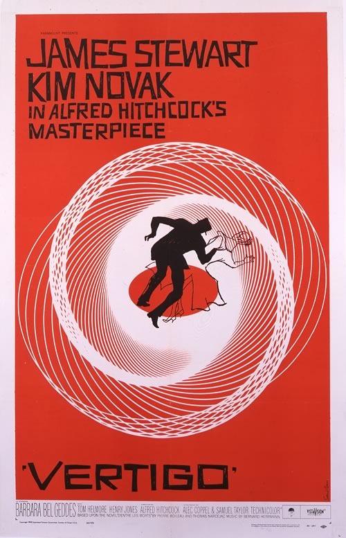 """Saul Bass' poster for the movie """"Vertigo"""""""