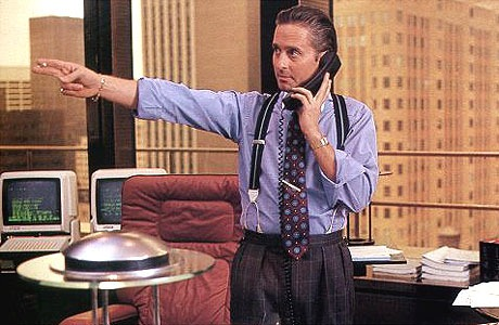 "Martin Sheen as Gordon Gekko in ""Wall Street"""