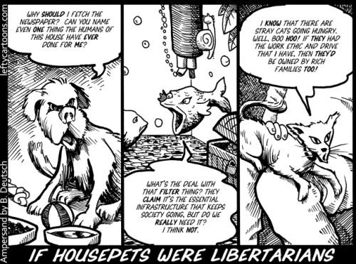 "Comic: ""If Housepets Were Libertarians"""