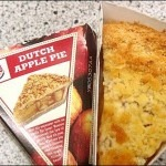 Monarch Burger's apple pie: a slice of pie served in a wedge-shaped box