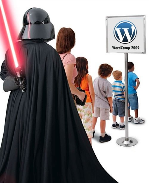 Darth Vader in the lineup for Wordcamp 2009