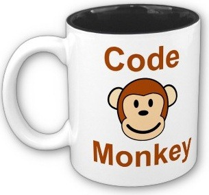 """Code Monkey"" coffee mug"
