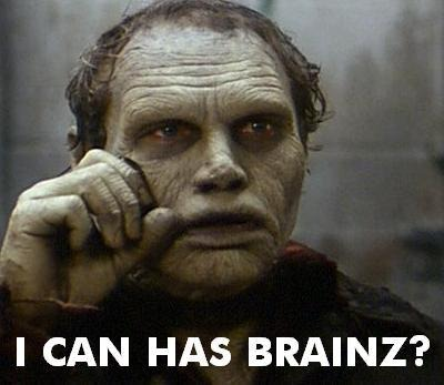 "Zombie picture: ""I can has brains?"""