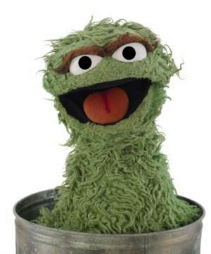 """Oscar the Grouch"" from Sesame Street"