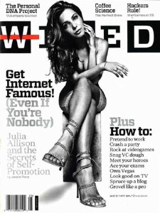 "The ""Julia Allison"" cover of Wired"