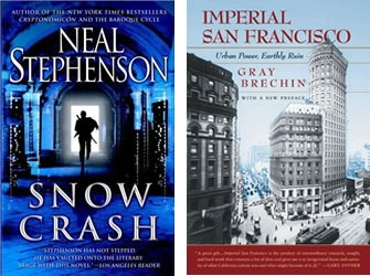 "Covers of ""Snow Crash"" and ""Imperial San Francisco"""