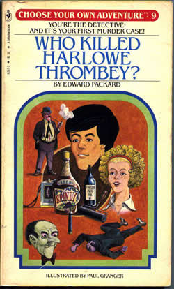 Cover of the 'Choose Your Own Adventure' book 'Who Killed Harlowe Thrombey'