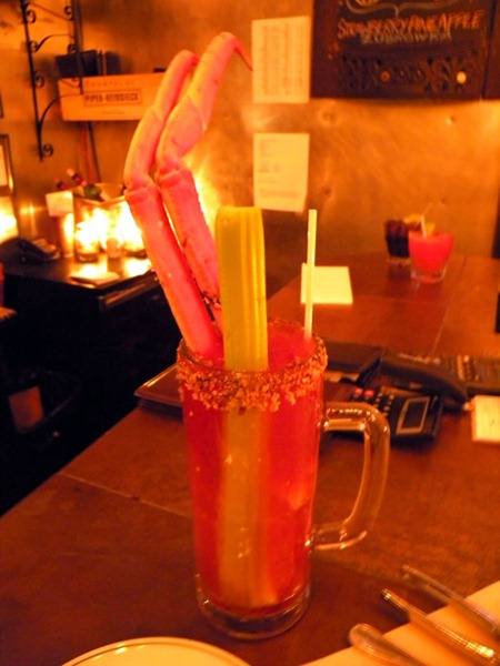 A bloody caesar at Garde Manger