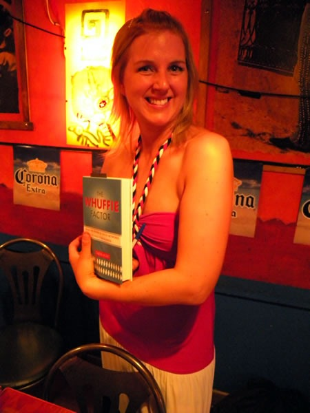 "Tara Hunt and her book, ""The Whuffie Factor"""